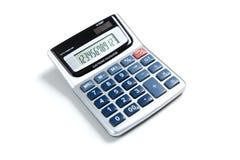 Uma calculadora de bolso no branco Fotografia de Stock Royalty Free