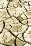 Uma cama de rio seca Fotos de Stock Royalty Free