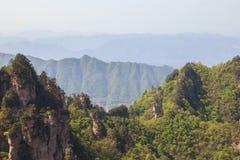 Uma camada de Mountain View em Tien mansan de Zhangjiajie Imagem de Stock