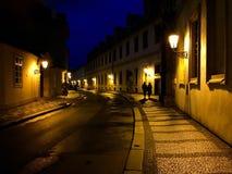 Uma caminhada da noite Fotografia de Stock