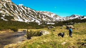 Uma caminhada nas montanhas Imagens de Stock Royalty Free