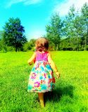 Uma caminhada no prado Imagem de Stock