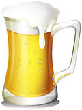 Uma caneca completamente de cerveja fria ilustração stock