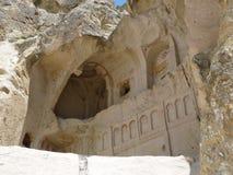 Uma capela na rocha, Goreme, Cappadocia Fotos de Stock Royalty Free