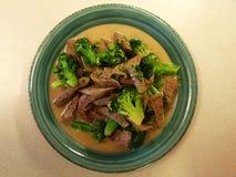 Uma carne & uns bróculos agitar-fritam Imagem de Stock