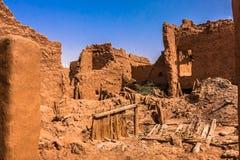 Uma casa abandonada do mudbrick, província de Riyadh, Arábia Saudita imagem de stock
