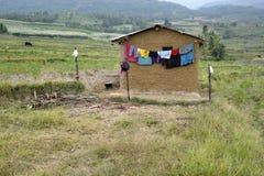 Uma casa da lama no kanthallur Imagens de Stock