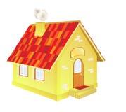 Uma casa de campo bonito dos desenhos animados Fotografia de Stock