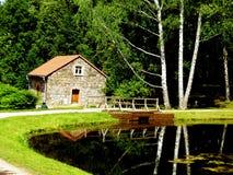 Uma casa de campo pequena Imagem de Stock Royalty Free