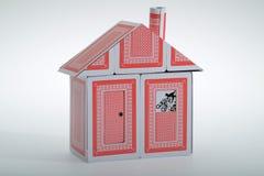 Uma casa de cartões Foto de Stock Royalty Free