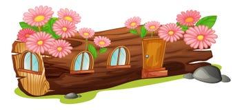 Uma casa de madeira Fotografia de Stock Royalty Free