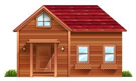 Uma casa de madeira ilustração stock