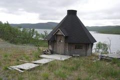 Uma casa do assado em Finlandia Fotos de Stock Royalty Free