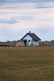 Uma casa do pastor no Puzsta húngaro Fotos de Stock Royalty Free