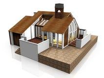 Uma casa do projeto Imagem de Stock