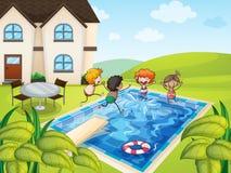 Uma casa e mi?dos Fotos de Stock Royalty Free