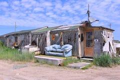 Uma casa em Churchill, Manitoba foto de stock royalty free