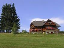 Uma casa no monte Fotos de Stock Royalty Free