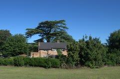 Uma casa que esconde nos verdes Imagem de Stock