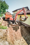 Uma casa que está sendo reconstruída Foto de Stock Royalty Free