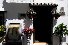 Uma casa típica no centro histórico de Mijas Malaga 2 Imagens de Stock