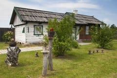 Uma casa ucraniana velha em um museu ao ar livre fotografia de stock