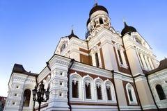 Uma catedral de Alexander Nevskiy imagens de stock royalty free