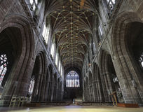 Uma catedral interna de Chester do olhar, Cheshire, Inglaterra Imagens de Stock Royalty Free