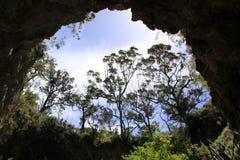 Uma caverna em Austrália imagem de stock