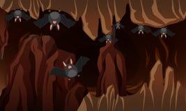 Uma caverna escura do bastão ilustração do vetor