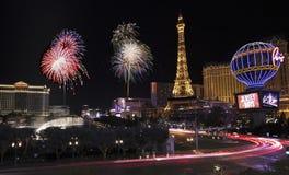 Uma celebração em Bellagio e em Las Vegas Blvd Imagens de Stock