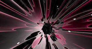 Uma cena abstrata de uma explosão colorida ilustração do vetor
