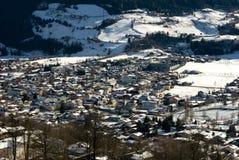Uma cena austríaca do inverno Imagem de Stock Royalty Free