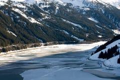 Uma cena austríaca do inverno Fotografia de Stock Royalty Free