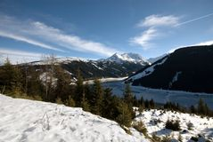 Uma cena austríaca do inverno Fotos de Stock