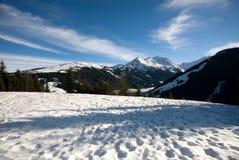 Uma cena austríaca do inverno Fotografia de Stock