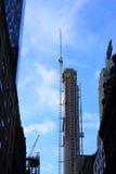 Uma cena da construção no Midtown, New York Fotografia de Stock