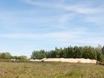 Uma cena da paisagem da beleza no verão com campo e s claros Fotos de Stock Royalty Free