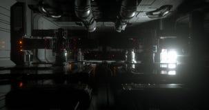 Uma cena de uma nave espacial 10 da ficção científica ilustração do vetor