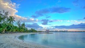 Uma cena do Cararibe da praia Fotos de Stock
