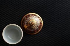 Uma cena famosa cinco-colorida tailandesa tradicional da porcelana fotografia de stock royalty free