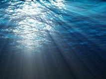 Uma cena subaquática Fotos de Stock Royalty Free