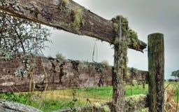 Uma cerca de madeira quebrada Fotos de Stock Royalty Free