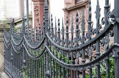 Uma cerca do metal feita do ferro forjado em Hannover, Alemanha, Europa imagem de stock