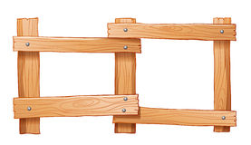 Uma cerca feita da madeira Fotos de Stock