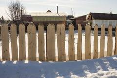 Uma cerca feita das placas Imagem de Stock Royalty Free