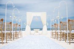 Uma cerimônia estabelecida de um casamento do destino imagem de stock royalty free