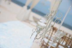 Uma cerimônia estabelecida de um casamento do destino foto de stock royalty free