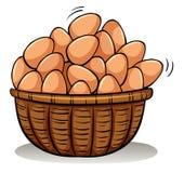 Uma cesta completamente dos ovos ilustração stock