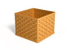 Uma cesta de vime Imagem de Stock Royalty Free